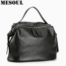 Buy New Arrival 100% Real Soft Genuine Leather Women Handbag Ladies Shoulder Bags Fashion Designer Messenger Bag Satchel Tote Purse for $45.88 in AliExpress store