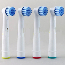4pcs/packs Electric Toothbrush Heads Brush Heads Replacement for Oral Hygiene B Sensitive EBS-17A For Family Health Use(China)