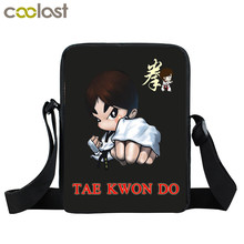 Cool Martial Art Judo / Taekwondo / Karate / Aikido Mini Messenger Bag Boys Crossbody Bags Kids Cobra Kai Bag Children Book Bags