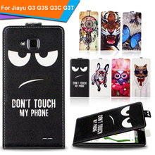 Newest For Jiayu G3 G3S G3C G3T Factory Price Luxury Cool Printed Cartoon 100% Special PU Leather Flip case,Gift(China)