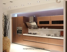 High gloss/lacquer kitchen cabinet mordern(LH-LA055)(China)