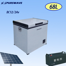 PURSWAVE 42L DC 12V24V chest FREEZER for Recreational Vehicle -18degree DC compressor freezer for RV, bus, car, truck, houseboat(China)