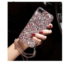 for iphone 5 6 7 8 X Samsung Galaxy s5 s6 s7 s8 edge plus note 4 5 8 Luxury Cute Rhinestones diamond Glitter case cover Crystal