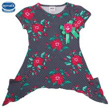 3-8T children's tshirts nova kids branded baby clothes polka dot all printed ready stock baby t shirts dresses for child girls(China)