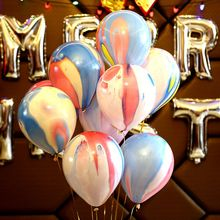 Buy 25pcs/lot Colour Balloon 10 inch Cloudy Balloon paint Latex balloons marble rainbow wedding party decoration agate balls for $4.24 in AliExpress store