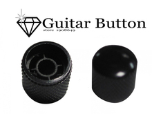 Muse-New Arrival Professional Metal Push-On Guitar Knobs Coarse Knurl Black Musical parts Instruments guitar knobs - 1pcs(China)