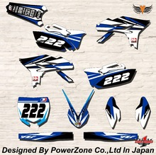 WR YZ YZF 125 250 400 450  Team Graphics Backgrounds Decals Stickers N2 Motor cross Motorcycle Dirt Bike MX Racing Parts