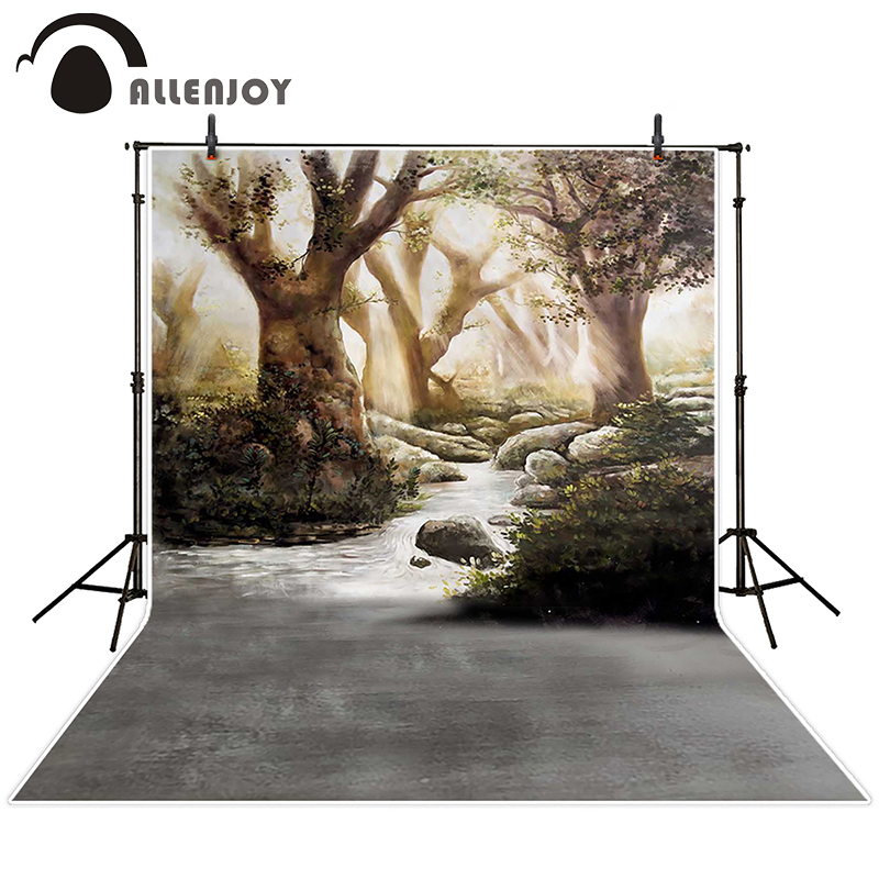 Allenjoy photographic background Videos river meadow tree backdrops children christmas digital Send rolled 8x8<br><br>Aliexpress