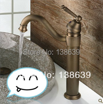 Free shipping luxury bahroom faucet,Antique brass bronze basin sink mixer tap,deck mounted cozinha torneiras with high quality<br><br>Aliexpress