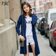 YUNSHUCLOSET 2017 New Design Cashmere blend Cardigan Loog paragraph roll up the sleeves cardigan High-quality Free Shipping(China)