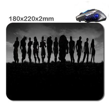 Mass Effect Band Of Brothers Top Shot World Gaming Rectangle Silicon Durable Mouse Pad Computer Mouse Mat 180 Mmx220mmx2mm