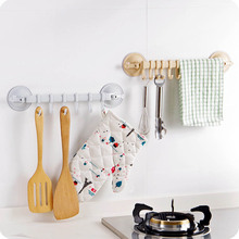 Adjustable Hook Rack Towel Hanging Shelves Double Suction Cup Kitchen Storage Hook Holders Lock Type Sucker Bathroom Organizer