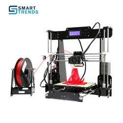 Anet A8 Высокая точность 3D настольный принтер поддержка ABS/PLA/wood/PVA/PP/люминесцентная несобранный самодельный комплект Windows XP/7/8/10 Mac
