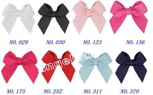 "free shipping Boutique 50pcs 2.5 "" mini bows grosgrain ribbon bow fashion hair accessaries no clip HD3303"