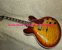 New Arrival Honey Wave Custom 335 Jazz Guitar gold hardware High Quality wholesale guitars