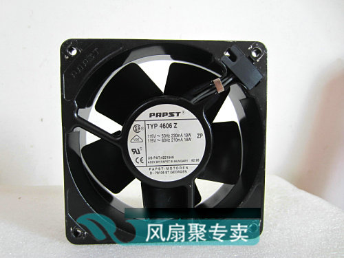 Original German papst TYP 4606Z 12CM 120*120*38MM 115V 19 / 18W all-metal cooling fan<br>