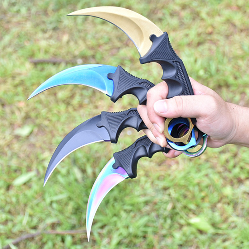 2017 brand knife cs go Counter Strike Karambit knife fidget spinner handmade Fighting Claw Knife tactical survival camping tool