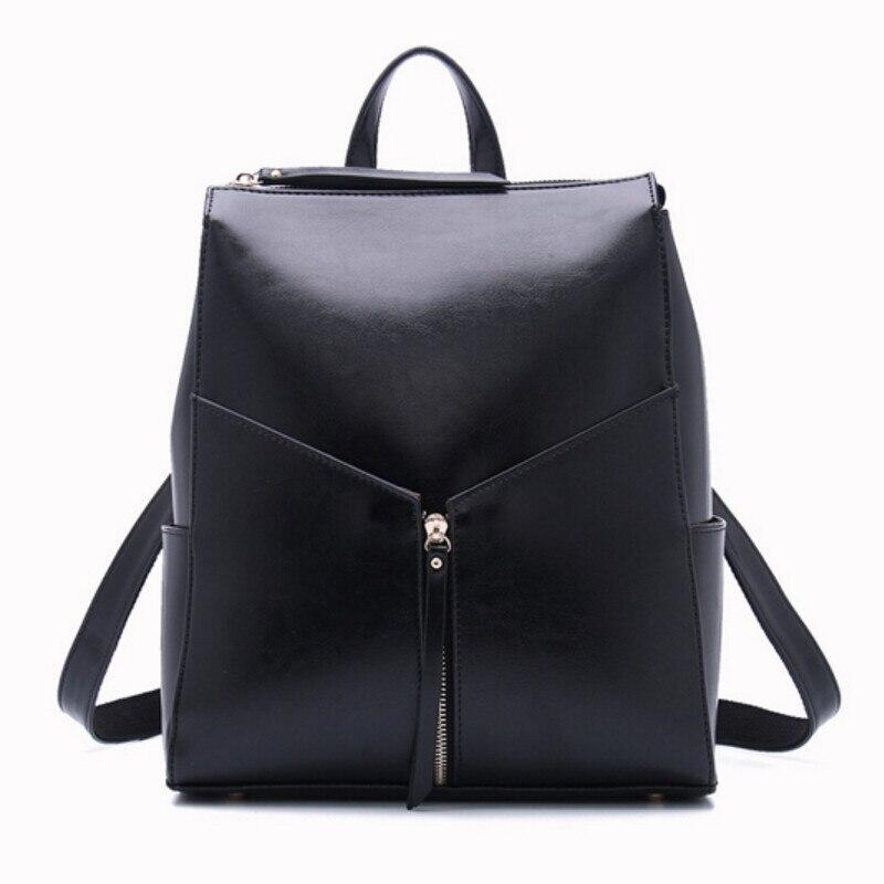 women black leather backpack female fashion office bag ladies work bags stylish backpacks for teenage girls mochilas femininas<br><br>Aliexpress