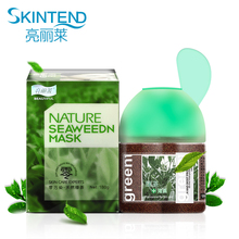 Buy Green Tea Seaweed Mask Large Particles Natural Makeup Moisturizing Disposable Maternity Oil Control Clean Pure Seaweed Mud 180g for $12.10 in AliExpress store