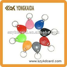 ISO 18000-2 1000pcs 125KHz ABS proximity key card T5577 rfid key fob/ tag in different colors