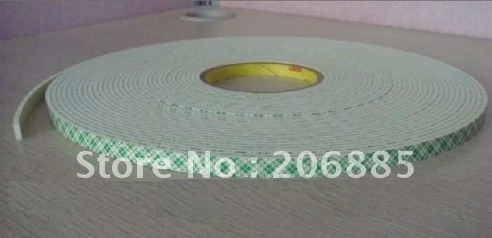 100% Original 3M 4026 two sided pe foam adhesive tape white color 15mm*33M 5rolls/lot we can offer you other size<br>