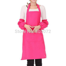 A8Free shipping!1pcs Antifouling Spun Poly Craft Restaurant Kitchen Bib Aprons With Pockets P31(China)
