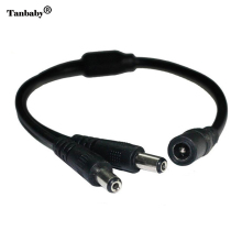 Tanbaby 1 DC female to 2 ,3,4,6,8 male connector wire DC power Power Splitter Adapter Cable LED DC Connector for LED Strips Pack
