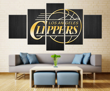 5 Pieces/Set Los Angeles Clippers Of Basketball Team Wall Pictures For Living Room HD Canvas Oil Painting Poster Of Home Decor