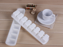Wholesale 50PCS Eight grid ice mold plastic Ice Cube Tray Mold Maker Ice Cream Mold Maker Ice Mould Free Fedex/DHL nw211
