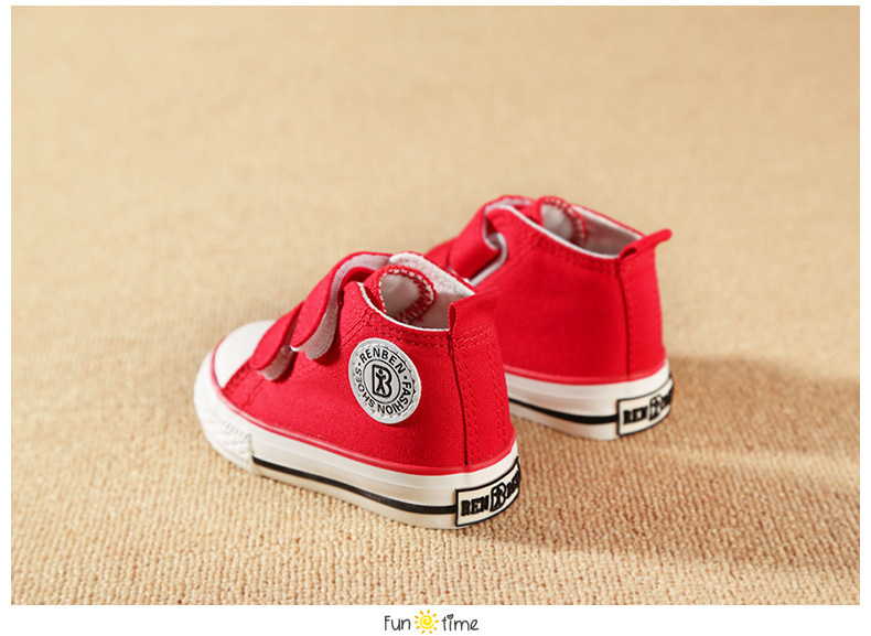 Baby shoes Girl Children Canvas shoes Boys 17 Spring Autumn Fashion High Cotton-made Baby girl little kids shoes 18
