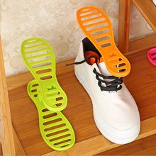 Portable simple personality save space New Popular Plastic Shoes Rack Organizer Stands Shoe Storage Holder Living Room Shoebox