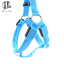 5 Piece / Set Wholesale Led Flashing Light Harness Collar Pet Pet Rope Belt Vest Tether Pet Safety Collar Rope Double-sided Use