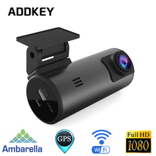 ADDKEY Ambarella A7LA70 Car DVR Camera GPS with Speedcam 1296P Full HD 1080P night vision Video Recorder Registrar Dash Cam