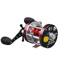 Drum fishing reel left / right hand 5.3:1 5BB baitcasting reels fishing reel Boat Wheel Round Baitcast vessels Free shipping