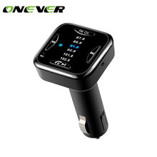 Onever Bluetooth 4.0 Car Kit Music Player FM Transmitter Modulator with 6 FM Channel Support Handsfree Call 2.1A USB Car Charger(China)