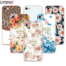 Attractive Coque For iPhone 5s Case Floral Romantic Pattern Silicone Cover For iPhone 6s Flower Soft Plastic TPU Fundas Case