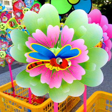 Manufacturer Promotions Explosion Models 22CM Small Peony PVC Children's Toys Windmill Windmills(China)