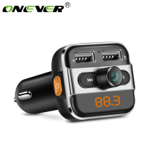 Onever FM Transmitter Bluetooth Car MP3 Player Wireless Car Kit FM Modulator LED Car Voltage Detector Support Folder Select(China)