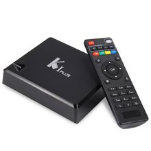 2016 Hot Saling K1 Plus TV Box Amlogic S905 Quad Core Android 6.0 HDMI 2.0 2.4G WiFi 1GB RAM 8GB ROM Mali-450MP with 4 USB Ports