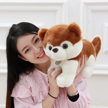 1pcs 13.7inches 35cm Simulation puppy firewood dog labrador retriever huskies teddy dog cute little dog