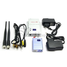 DC12V 1.2GHz 400mA 700mw 15CH Wireless Room-to-Room Audio Video Transmitter+Receiver+Antenna+AV Cable+Charger