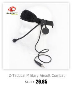 Z-Tactical Noise Reduction Tactical Headset without PTT Adapter Microphone Military Paintball Communication Headphone Gear