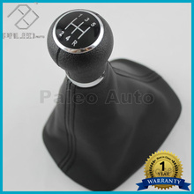 For Passat B5 2001 2002 2003 2004 2005 New 5 Speed Manual Transmission Car Gear Shift Knob With Real Leather Boot Car Styling
