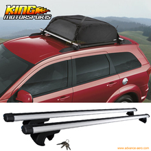 "For 135cm 53"" Universal Fit Aluminum Top Roof Rack Cross Bar Luggage Carrier W/Lock"