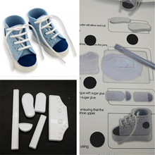 1 Set Baby Shoes DIY Cake Fondant Mold High Cut Sneaker Fondant Cake Decorating Baking Tool Mould Cake Tools Accessories 678798