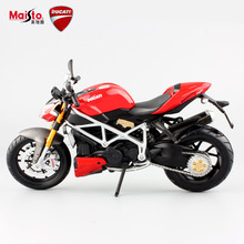 Maisto 1:12 Children's red mod streetfighter S metal die cast models motorbike mini race car figure motorcycle kids loose toys