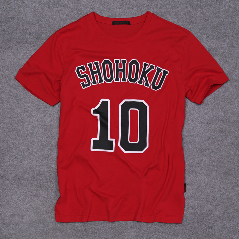 New Hanamichi Sakuragi slamdunk T shirts Men Spring/summer short sleeve T-shirt Slam Dunk men and women(China (Mainland))