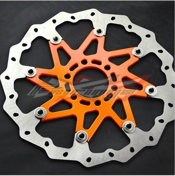 Orange CNC Aluminium WAVE BRAKE DISC FRONT Fit for KTM 125 200 390 DUKE 2013-2014<br><br>Aliexpress