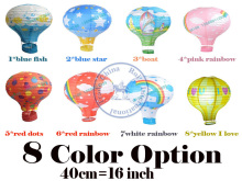 40cm=16 inch fire balloon Paper lantern lampshade Party Craft Wedding Decoration Kid's room multi design  wholesale retail