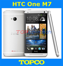 "Original HTC One Unlocked Android phone GSM 3G&4G Quad-core ONE M7 32GB Mobile Phone 4.7"" 4MP WIFI GPS dropshipping(China)"